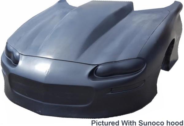 1998-2002 Firebird TransAm Black Plastic Hood Grille Insert Scoops Pair